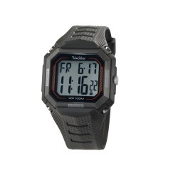 UNISILVER TIME QUAD MEN'S TOUCHSCREEN DIGITAL RUBBER WATCH KW2314-1001 (GRAY/BLACK/ORANGE )   image here