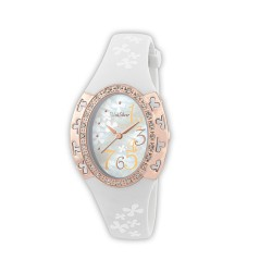 UNISILVER TIME JULIE ANNE SAN JOSE'S 5TH EDITION WOMEN'S WHITE RUBBER STRAP WATCH KW1497-2001(INT: ONE SIZE)   image here