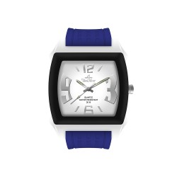 UNISILVER TIME KANDY KRUSHHH (REGULAR SIZE) UNISEX INDIGO BLUE / WHITE / BLACK ANALOG RUBBER WATCH KW479-2035   image here