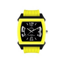 UNISILVER TIME KANDY KRUSHHH (REGULAR SIZE) UNISEX NEON YELLOW / BLACK ANALOG RUBBER WATCH KW479-2034   image here