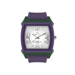 UNISILVER TIME KANDY KRUSHHH (REGULAR SIZE) UNISEX VIOLET / DARK GREEN / OFF-WHITE ANALOG RUBBER WATCH KW479-2022   image here
