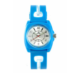 UniSilver TIME Iconiq Dreamer Women's Aqua Blue / Transparent White / Silver Analog Rubber Watch KW1006-2108 image here