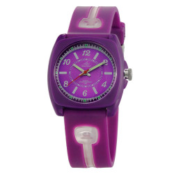 UniSilver TIME Iconiq Dreamer Women's Purple / Transparent White Analog Rubber Watch KW1006-2102 image here