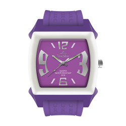 UniSilver TIME Kandy Krushhh (Junior Size) Women's Purple / Off-White Analog Rubber Watch KW1044-2001 image here