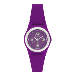 UniSilver TIME Smiggles Women's Purple / Silver Analog Rubber Watch KW153-2102 image here