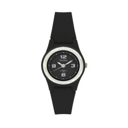 UniSilver TIME Smiggles Women's Black / Silver Analog Rubber Watch KW153-2109 image here