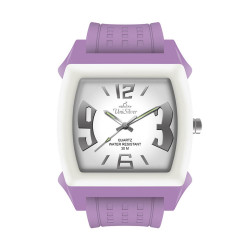UniSilver TIME Kandy Krushhh (Junior Size) Women's Lavender / Off-White Analog Rubber Watch KW1044-3220 image here