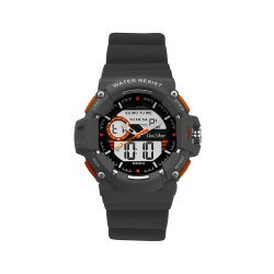 UNISILVER TIME HYPERDRIVE ANALOG-DIGITAL RUBBER DARK GRAY WATCH KW1907-1001 image here
