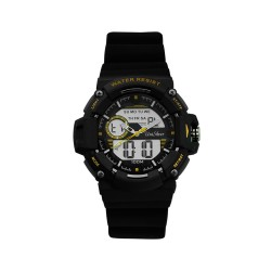 UNISILVER TIME HYPERDRIVE ANALOG-DIGITAL RUBBER BLACK WATCH KW1907-1003 image here