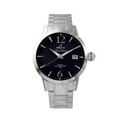 UNISILVER TIME MEN'S GYRO CLASSIC STAINLESS STEEL NAVY BLUE WATCH KW2017-1103 image here