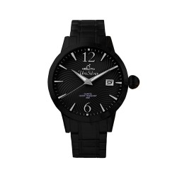 UNISILVER TIME MEN'S GYRO CLASSIC STAINLESS STEEL ALL BLACK WATCH KW2017-1502 image here