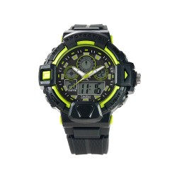 UNISILVER TIME ENZO PINEDA'S  TECHNOPHUNK ANALOG-DIGITAL RUBBER GRAY / LIME GREEN WATCH KW2027-1001 image here