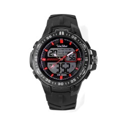 UNISILVER TIME EJAY FALCON'S ALPHASIEGE ANALOG-DIGITAL GRAY / RED WATCH KW2074-1001 image here