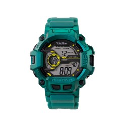 UNISILVER TIME EXETRON DIGITAL RUBBER BLUE GREEN WATCH KW2030-1001 image here