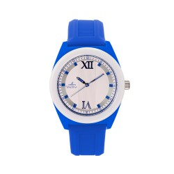 UNISILVER TIME UNISEX NEO CRAZE ANALOG RUBBER BLUE / WHITE WATCH KW2186-1003 image here
