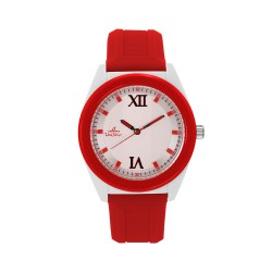 UNISILVER TIME UNISEX NEO CRAZE ANALOG RUBBER RED / WHITE WATCH KW2186-1005 image here