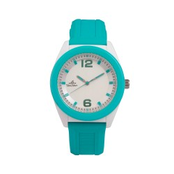 UNISILVER TIME UNISEX NEO POP ANALOG RUBBER TEAL / WHITE WATCH KW2187-1001 image here