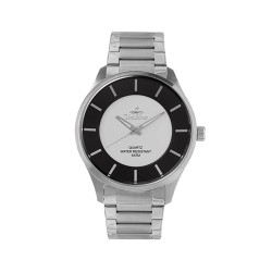 UNISILVER TIME MEN'S CYKLON ANALOG STAINLESS STEEL WHITE / BLACK WATCH KW2001-1120 image here