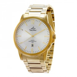 UNISILVER TIME MEN'S STINGPOINT PAIR ANALOG STAINLESS STEEL GOLD / WHITE WATCH KW1601-1204 image here