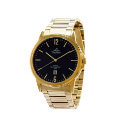 UNISILVER TIME MEN'S STINGPOINT PAIR ANALOG STAINLESS STEEL GOLD / BLACK WATCH KW1601-1205 image here