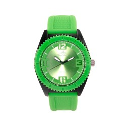UNISILVER TIME DARREN ESPANTO'S SMASHERZ ANALOG RUBBER GREEN / BLACK WATCH KW2195-1003 image here