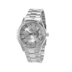 UNISILVER TIME MEN'S TRAXXION ANALOG STAINLESS STEEL SILVER WATCH KW2211-1101 image here