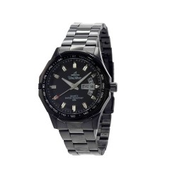 UNISILVER TIME MEN'S TRAXXION ANALOG STAINLESS STEEL BLACK WATCH KW2211-1104 image here