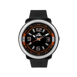 UNISILVER TIME UNISEX BLACK / ORANGE RUBBER WATCH KW1030-2101   image here