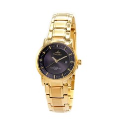UNISILVER TIME LADIES' VANTEDGE PAIR STAINLESS STEEL GOLD / BLACK WATCH KW2142-2205 image here