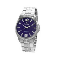 UNISILVER TIME MEN'S STRIATA STAINLESS STEEL BLUE KW2149-1103 image here