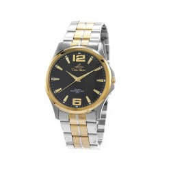 UNISILVER TIME MEN'S STRIATA TWO-TONE STAINLESS STEEL BLACK KW2149-1305 image here