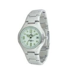 UNISILVER TIME MEN'S SILVER / WHITE STAINLESS STEEL WATCH KW021-1101   image here