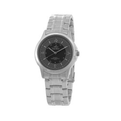 UNISILVER TIME ASTERIA PAIR MEN'S SILVER / GRAY / BLACK ANALOG STAINLESS STEEL WATCH KW097-1102   image here