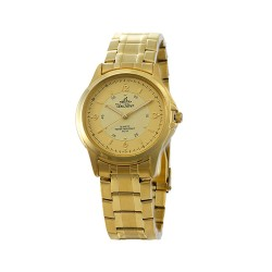 UNISILVER TIME ASTERIA PAIR MEN'S GOLD ANALOG STAINLESS STEEL WATCH KW097-1206  image here