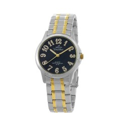 UNISILVER TIME CIRQUO PAIR MEN'S TWO-TONE / BLACK ANALOG STAINLESS STEEL WATCH KW098-1305   image here