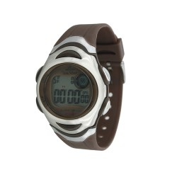 UNISILVER TIME MEN'S BROWN DIGITAL RUBBER WATCH KW114-3005   image here