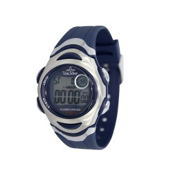 UNISILVER TIME MEN'S BLUE RUBBER WATCH KW114-3333   image here