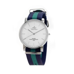 UNISILVER TIME UNISEX STYL-O-LOGY NYLON STAINLESS STEEL NAVY / GREEN WATCH KW2155-1110 image here