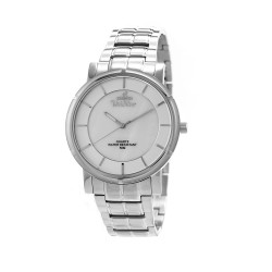 UNISILVER TIME MEN'S CONFLUENCE ANALOG STAINLESS STEEL SILVER / WHITE KW2260-1101 WATCH image here