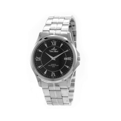 UNISILVER TIME MEN'S ZENTURIA PAIR ANALOG STAINLESS STEEL SILVER / BLACK WATCH KW2243-1102 image here