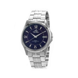 UNISILVER TIME MEN'S CONFLUENCE ANALOG STAINLESS STEEL SILVER / NAVY BLUE KW2260-1103 WATCH image here
