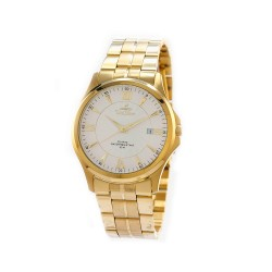 UNISILVER TIME MEN'S CONFLUENCE ANALOG STAINLESS STEEL GOLD / WHITE KW2260-1204 WATCH image here