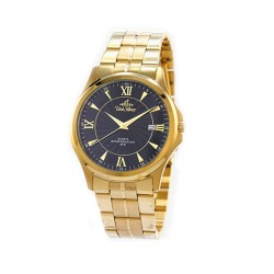 UNISILVER TIME MEN'S CONFLUENCE ANALOG STAINLESS STEEL GOLD / BLACK KW2260-1205 WATCH image here