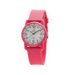 UNISILVER TIME CHILDREN'S FUNFARE ANALOG RUBBER STRAP FUCHSIA / MULTICOLORED DIAL KW2226-2101 WATCH image here