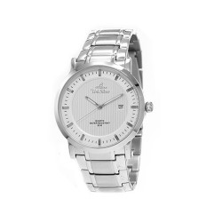 UNISILVER TIME MEN'S VANTEDGE-LINEAR PAIR ANALOG STAINLESS STEEL SILVER WATCH KW1957-1101 image here