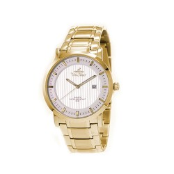 UNISILVER TIME MEN'S VANTEDGE-LINEAR PAIR ANALOG STAINLESS STEEL GOLD / SILVER WATCH KW1957-1204 image here