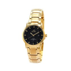 UNISILVER TIME LADIES' VANTEDGE PAIR ANALOG STAINLESS STEEL GOLD / BLACK WATCH KW1958-2205 image here