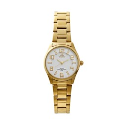 UNISILVER TIME LADIES' MODALLUS PAIR ANALOG STAINLESS STEEL GOLD/WHITE KW2166-2204 image here