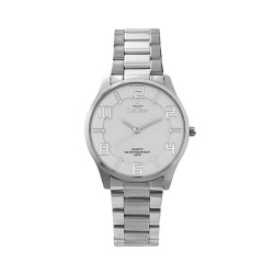 UNISILVER TIME MEN'S MODALLUS PAIR ANALOG STAINLESS STEEL SILVER/WHITE KW2162-1101 image here
