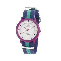 UNISILVER TIME UNISEX ZANITY-ZILCH ANALOG NYLON NAVY BLUE/GREEN/PURPLE KW2160-2094 WATCH image here